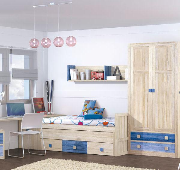 juvenil pino arenado 2 | Muebles Confort Nature